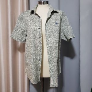 Penguin floral button down